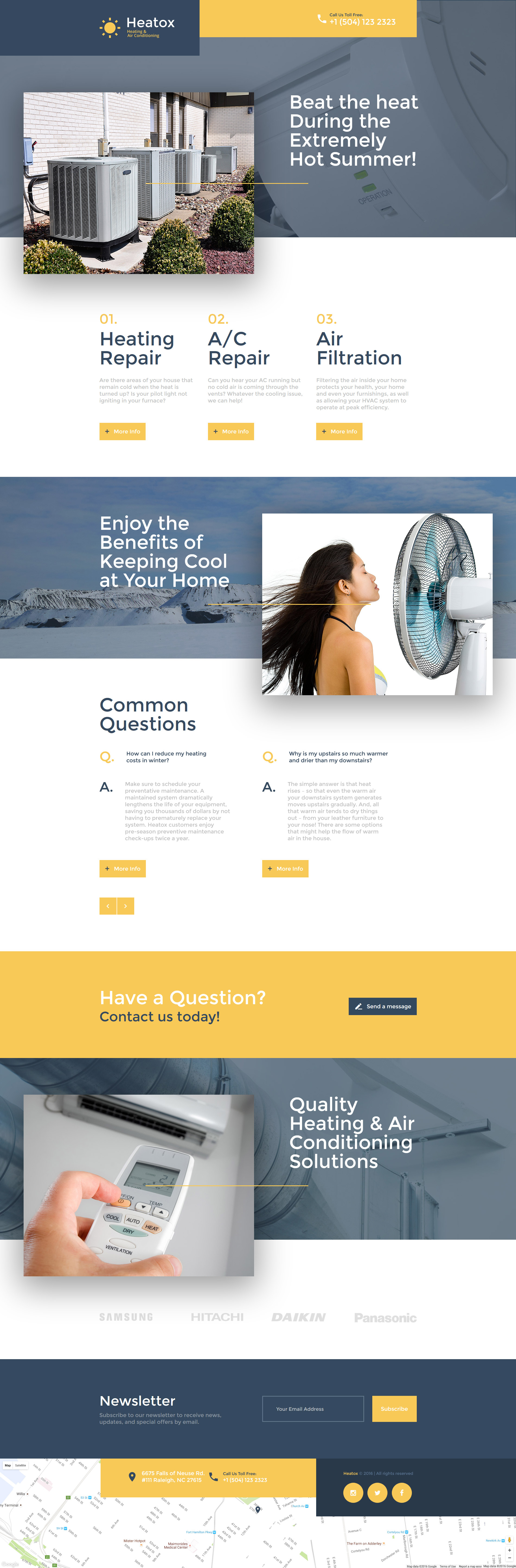 Responsivt Landing Page-mall #58252