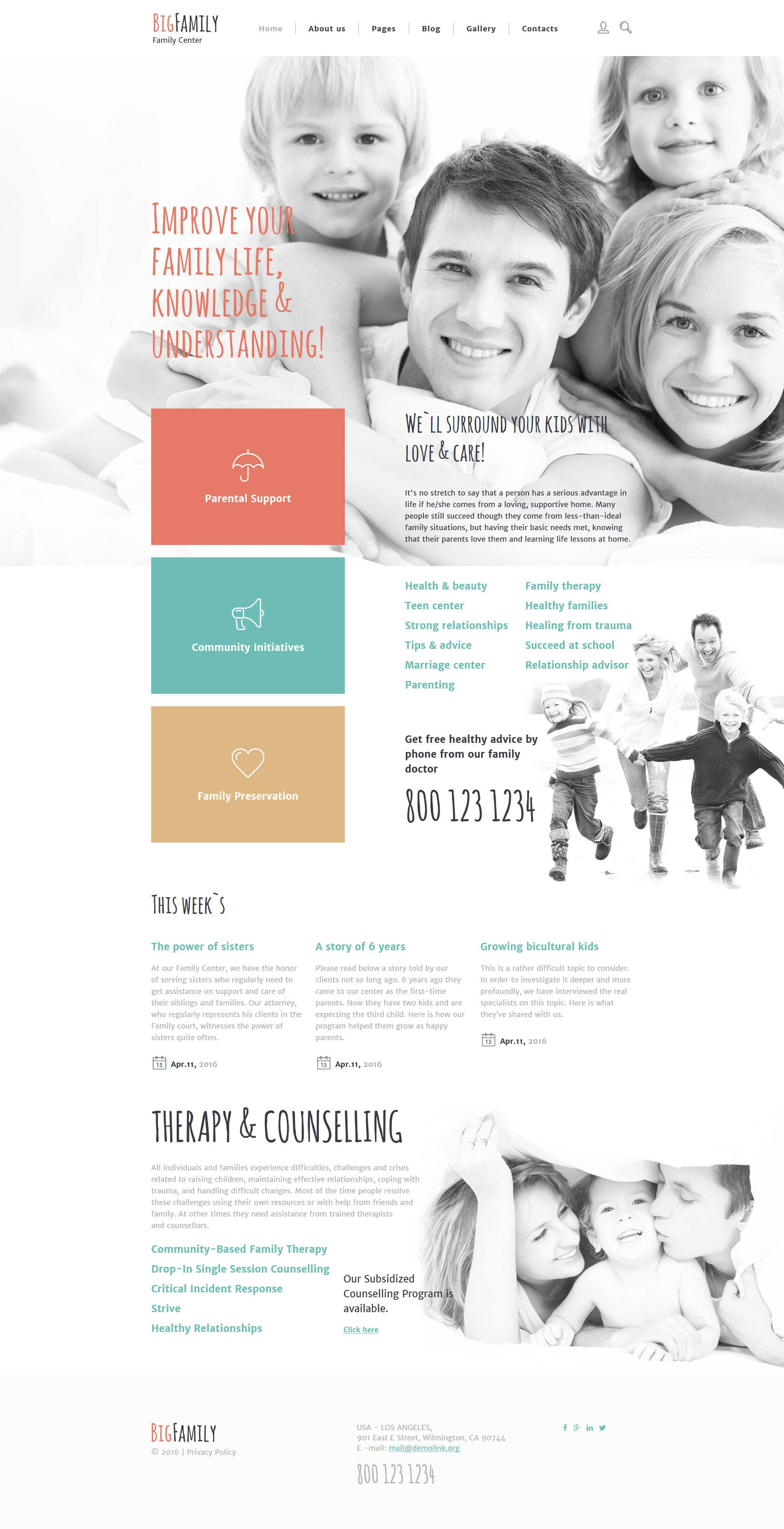 Responsywny szablon Joomla Big Family #58277