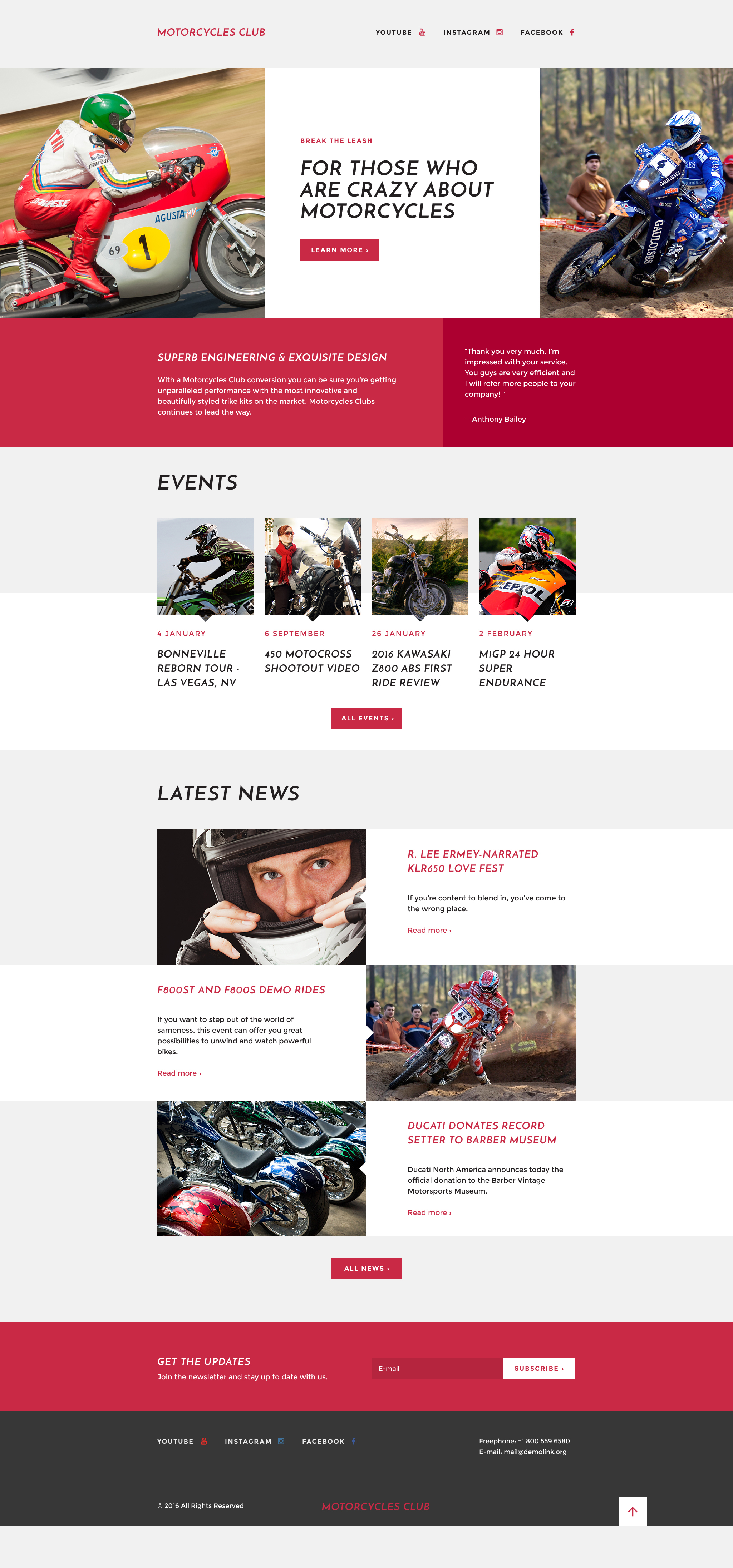 Responsywny szablon Landing Page #58206 na temat: sporty motorowe