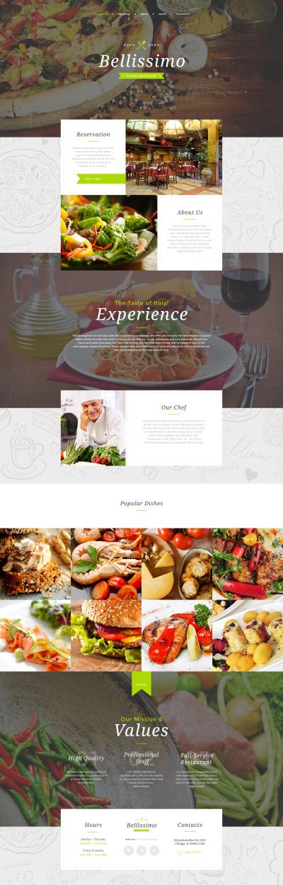 Responsywny szablon strony www #58225 na temat: restauracja włoska
