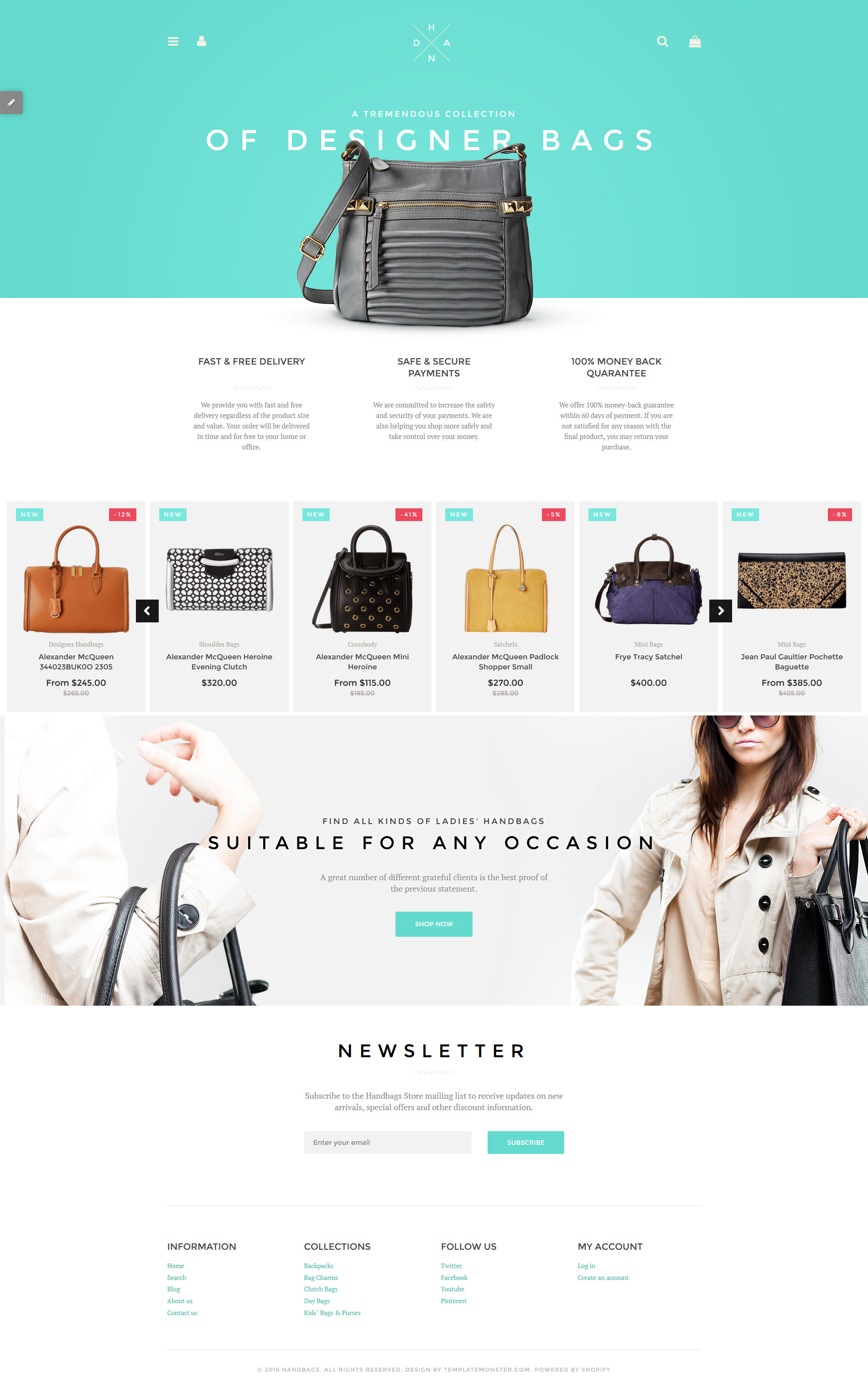 "Responzivní Shopify motiv ""Handbag Boutique"" #58235"