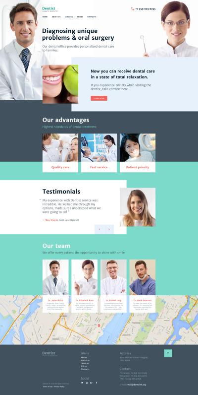 Dentistry Responsive Weboldal Sablon