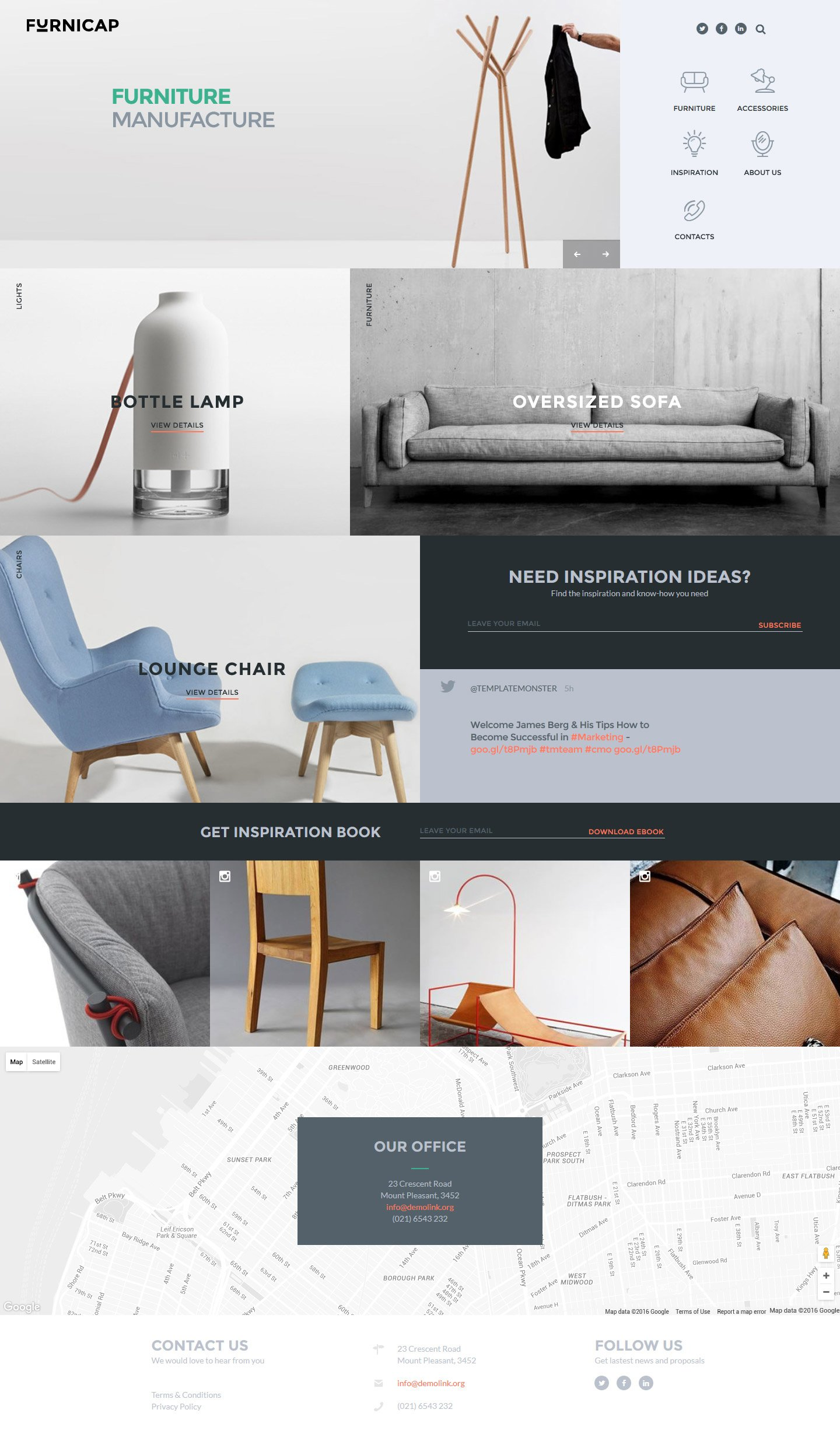 Reszponzív Furnicap Weboldal sablon 58260