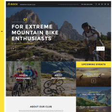 Rock Mountain Cycling Club Responsive Bootstrap Website Template