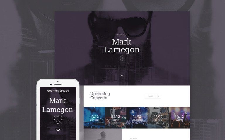 Singer Responsive Landing Page Template New Screenshots BIG