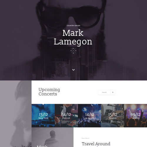 Mark Lamegon - Responsive Landing Page Template