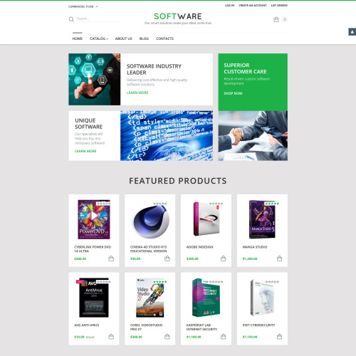 Software - VirtueMart Template based on Bootstrap
