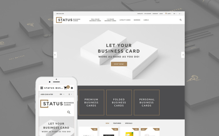 Status OpenCart Template New Screenshots BIG