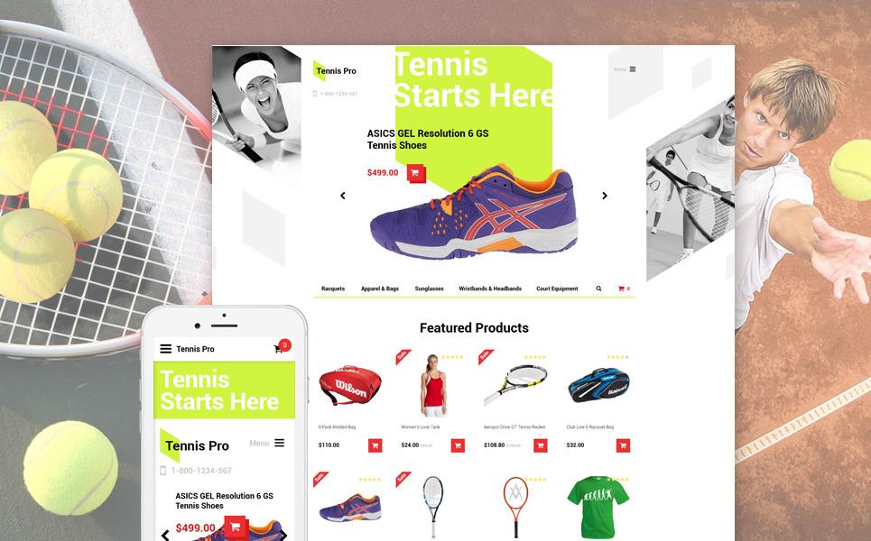 Tennis Pro OpenCart Template New Screenshots BIG