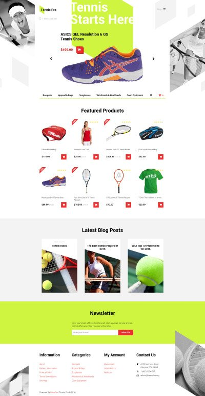 tennis templates templatemonster