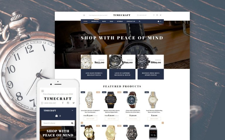 Time Craft Shopify Theme New Screenshots BIG