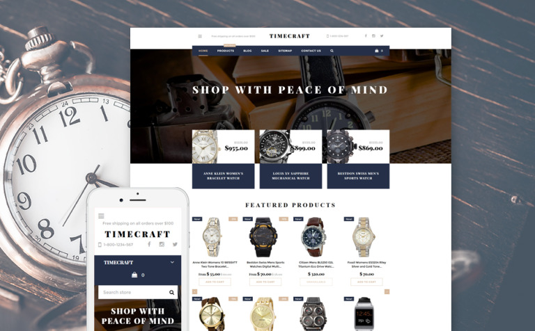 Time Craft Shopify Theme