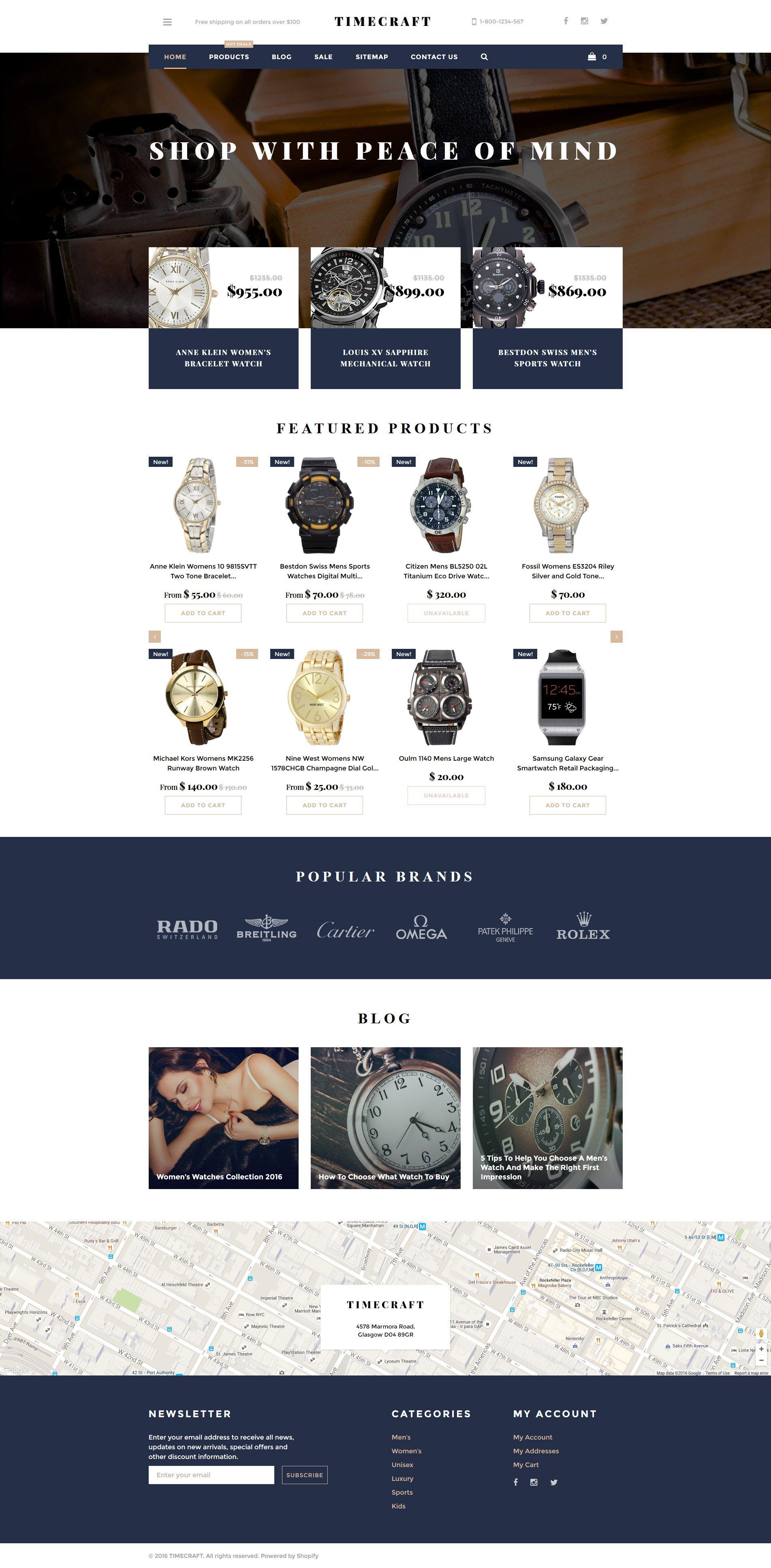 Time Craft Shopify Theme