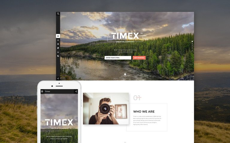 Timex Website Template New Screenshots BIG