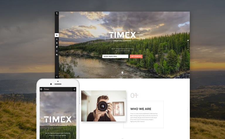 Timex Website Template