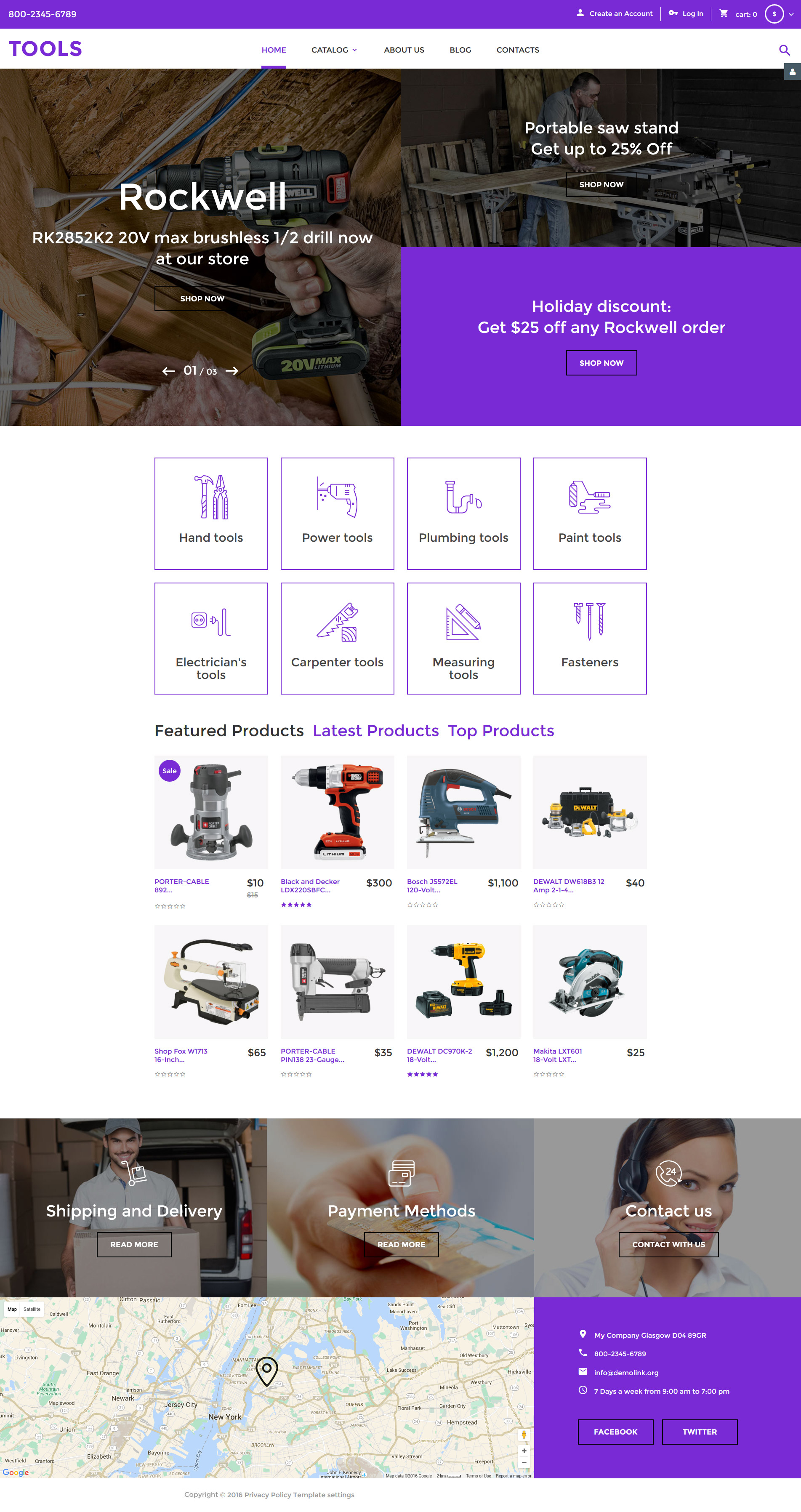 """Tools"" VirtueMart Template №58284"