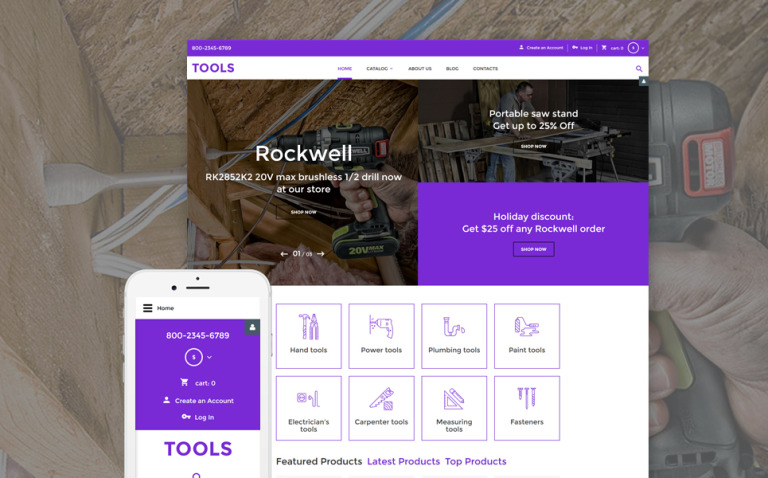 Tools VirtueMart Template New Screenshots BIG
