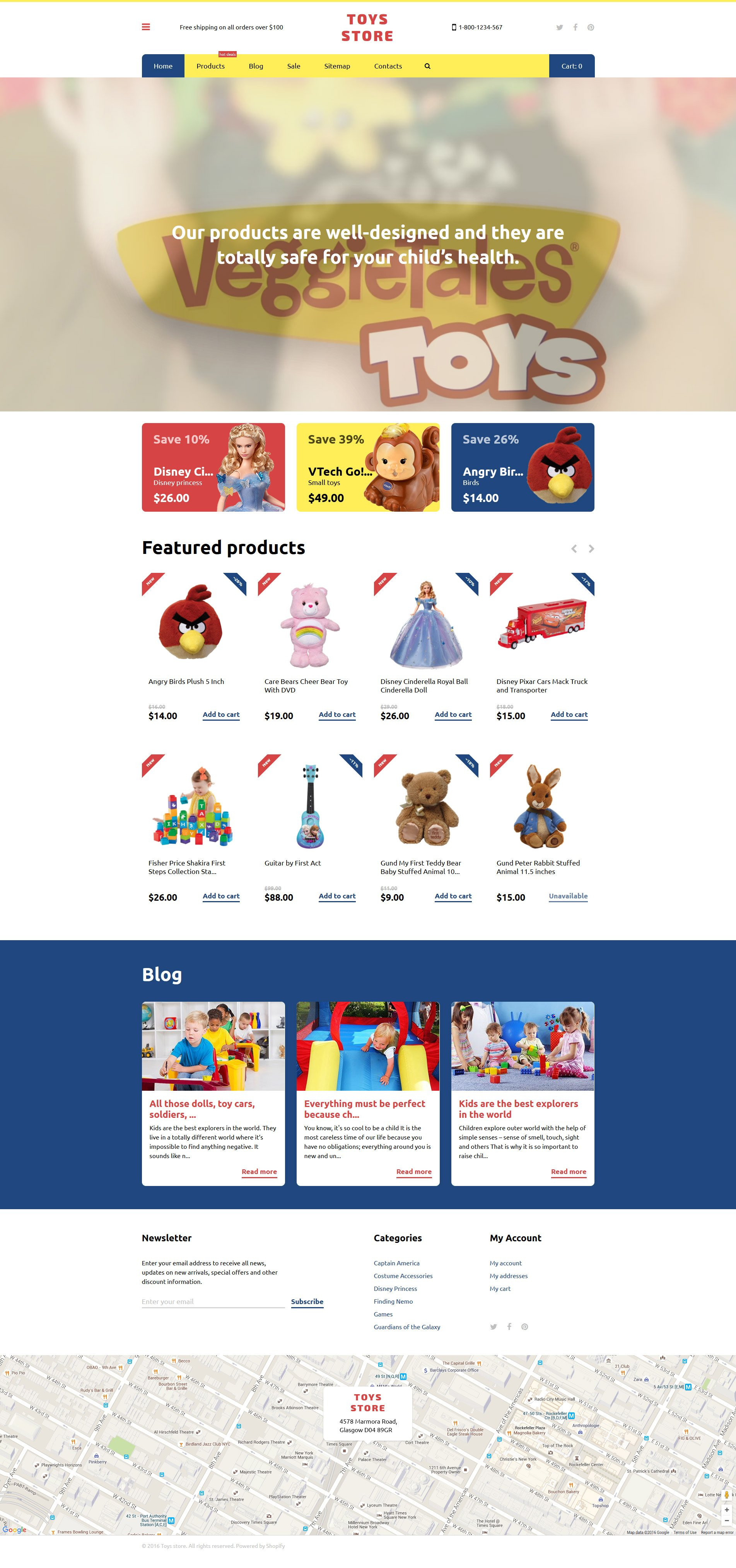 Toys Store Shopify Theme - screenshot
