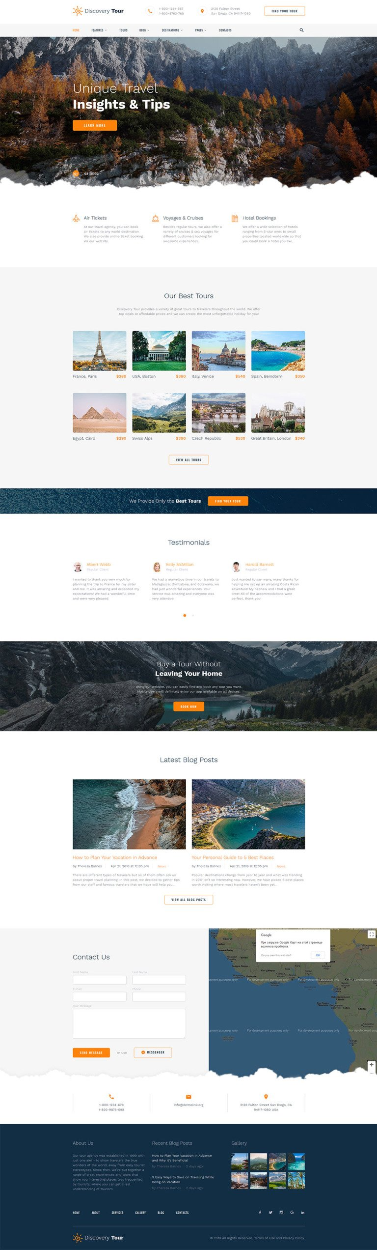 Travel Responsive Website Template New Screenshots BIG