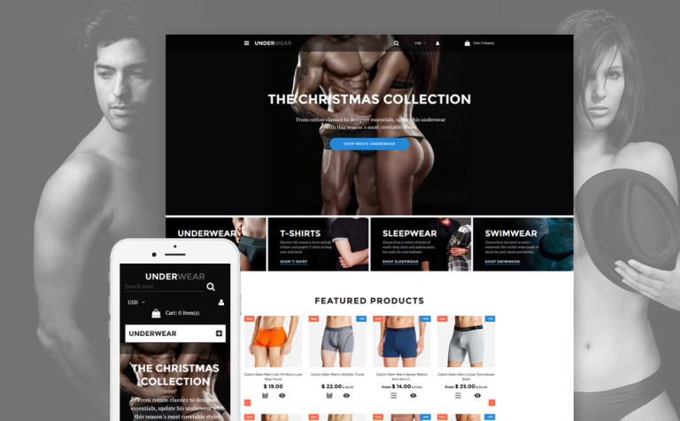 Underwear for Men Shopify Theme