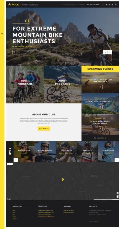 Responsive Website Vorlage für Radfahren