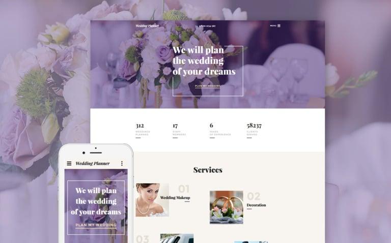 Wedding Planner Responsive Website Template New Screenshots BIG