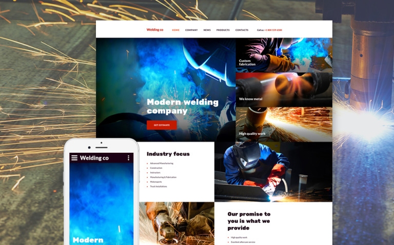 Welding Co Website Template New Screenshots BIG