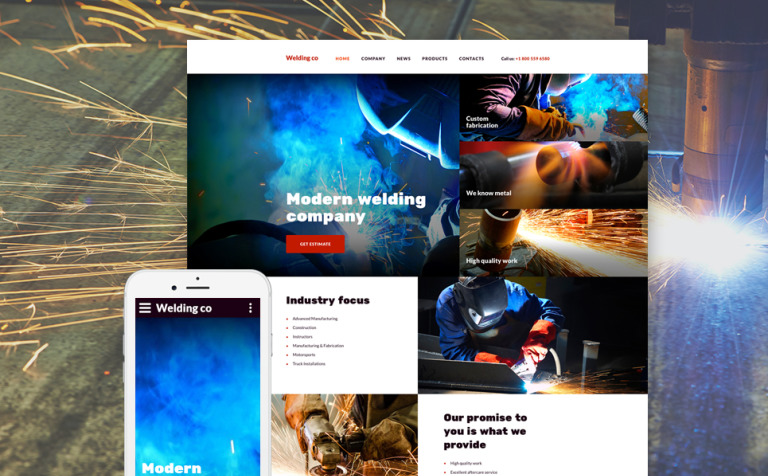 Welding Co Website Template