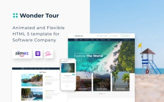 Wonder Tour - Simple Travel Agency Website Template