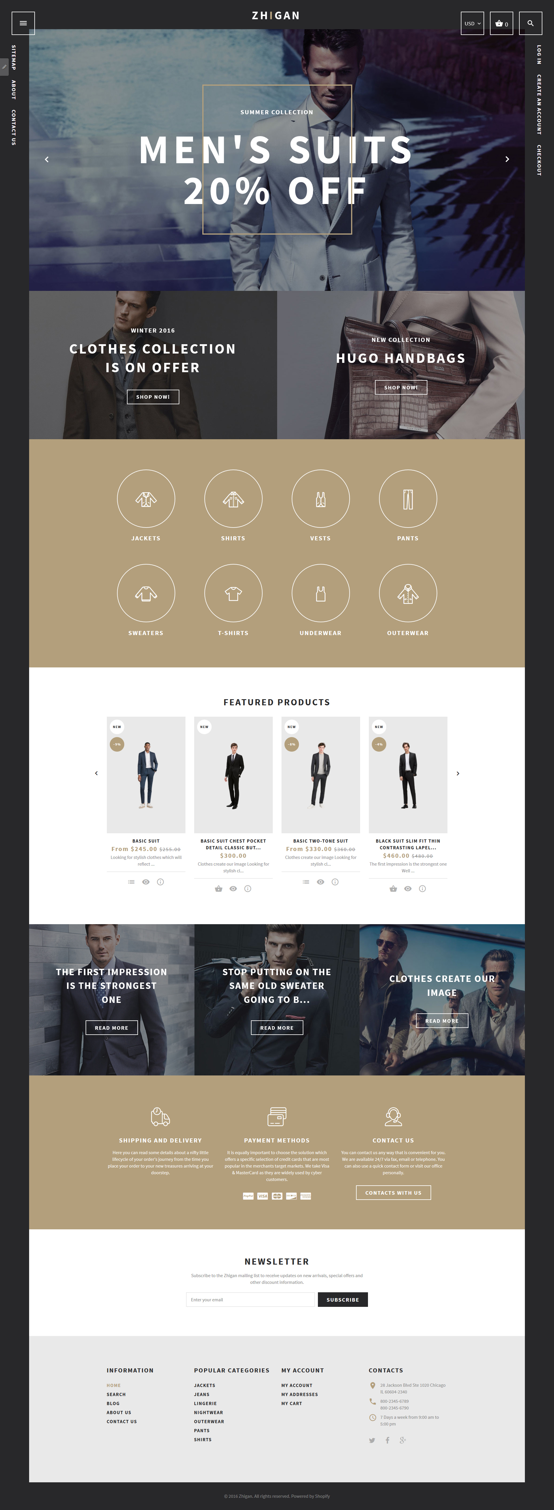 Clothing Store Shopify Theme - Shopify website templates