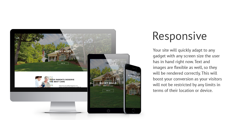 Elderly Care  Responsive Landing Page Template