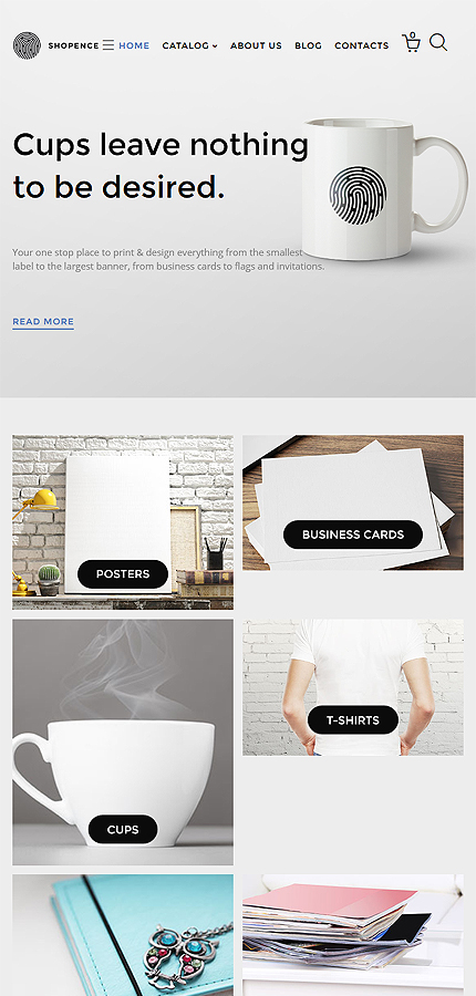 ADOBE Photoshop Template 58305 Home Page Screenshot