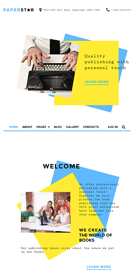 Joomla Theme/Template 58311 Main Page Screenshot