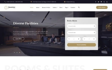 Jasmine - Hotel Classic Multipage HTML5 Website Template