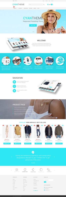 Modebutik Responsivt PrestaShop-tema