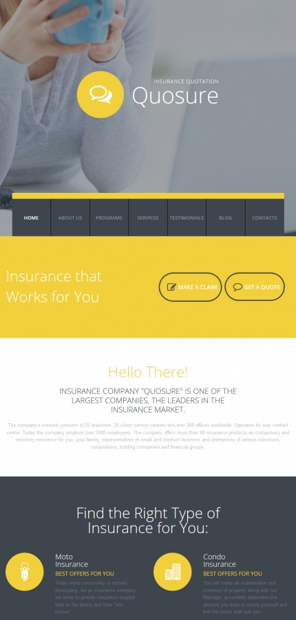 ADOBE Photoshop Template 58346 Home Page Screenshot