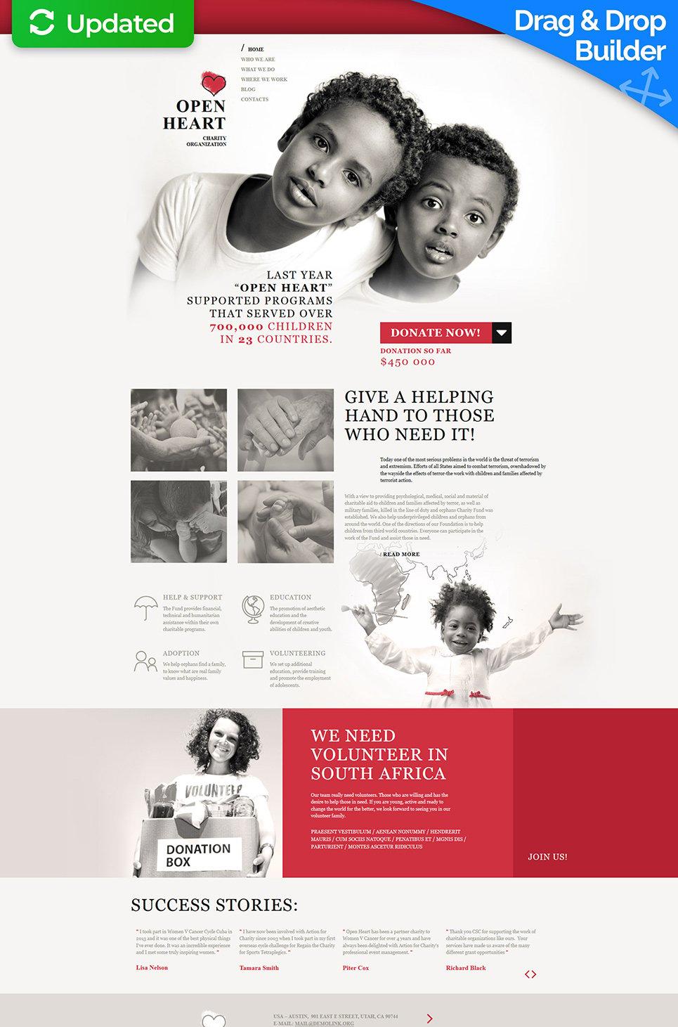 White theme for philanthropic site