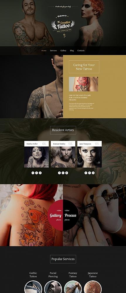 ADOBE Photoshop Template 58352 Home Page Screenshot