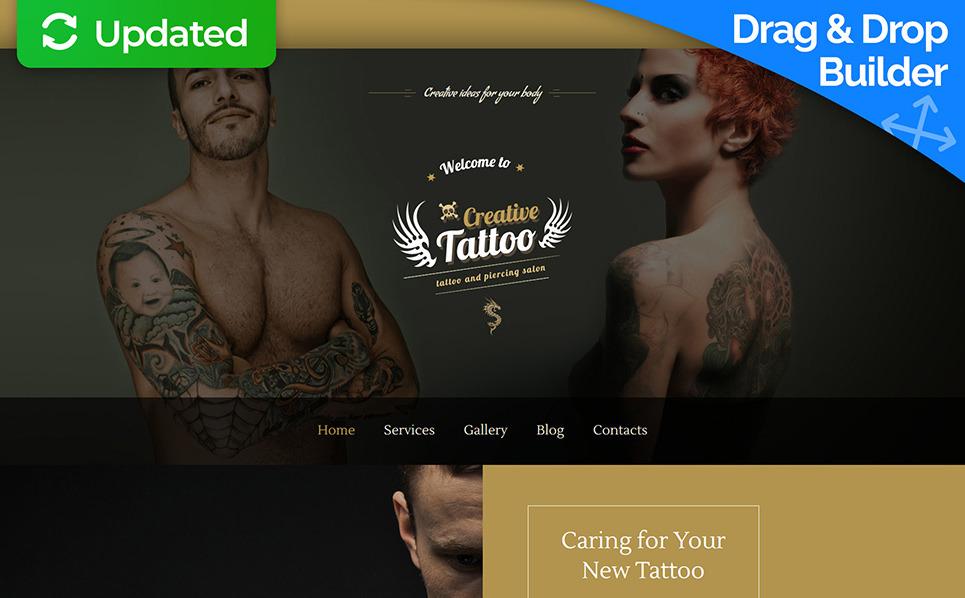 Reszponzív Tetováló szalonok Moto CMS 3 sablon New Screenshots BIG