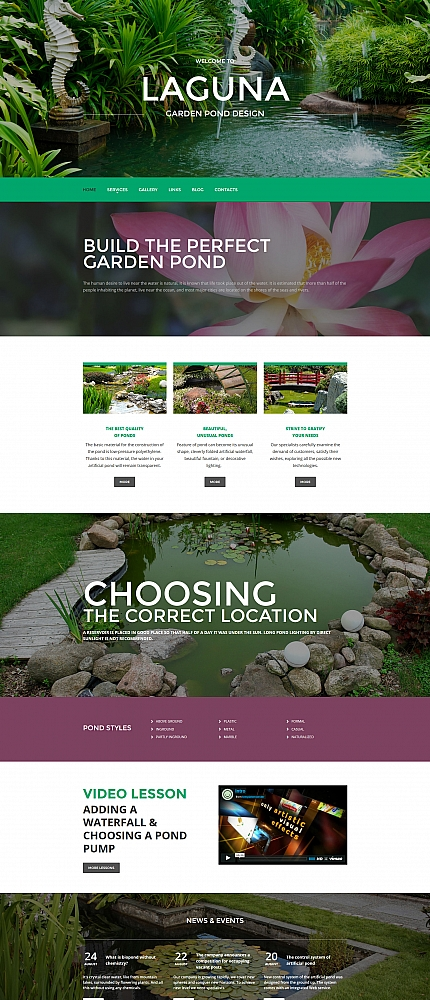 ADOBE Photoshop Template 58354 Home Page Screenshot