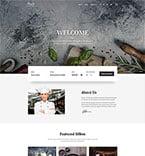 Cafe & Restaurant Website  Template 58360
