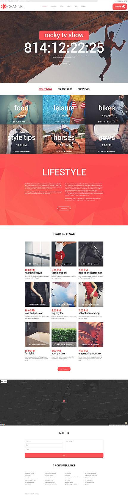 WordPress Theme/Template 58365 Main Page Screenshot