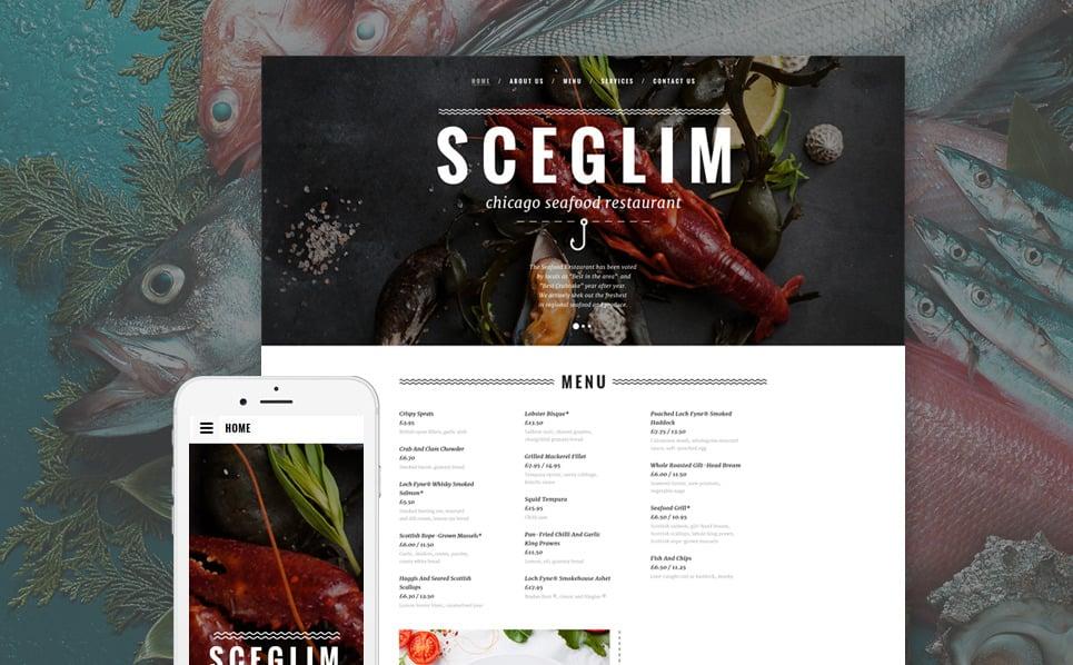 Responsive Website template over Visrestaurant New Screenshots BIG