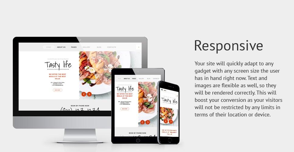 Tasty Life Restaurant  Responsive Joomla Template with Slider, Megamenu, Carousel, Gallery and Blog