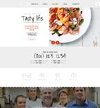 Cafe & Restaurant Joomla  Template 58368