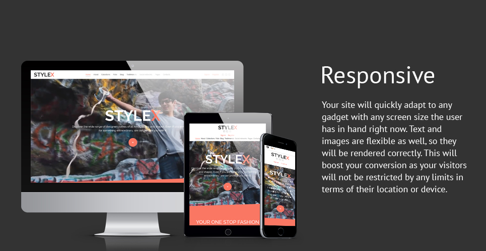 Stylex Clothes Responsive Joomla Template with   Background Video Header, Banners, Grid,  Blog, Portfolio and Carousel