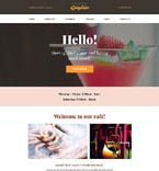 Cafe & Restaurant WordPress Template 58390