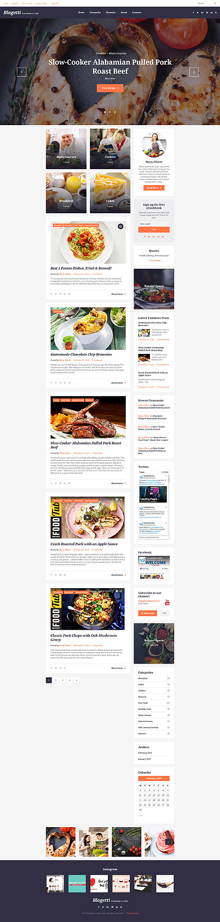 WordPress Theme/Template 58395 Main Page Screenshot