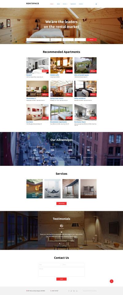 Real Estate Responsive Шаблон сайту