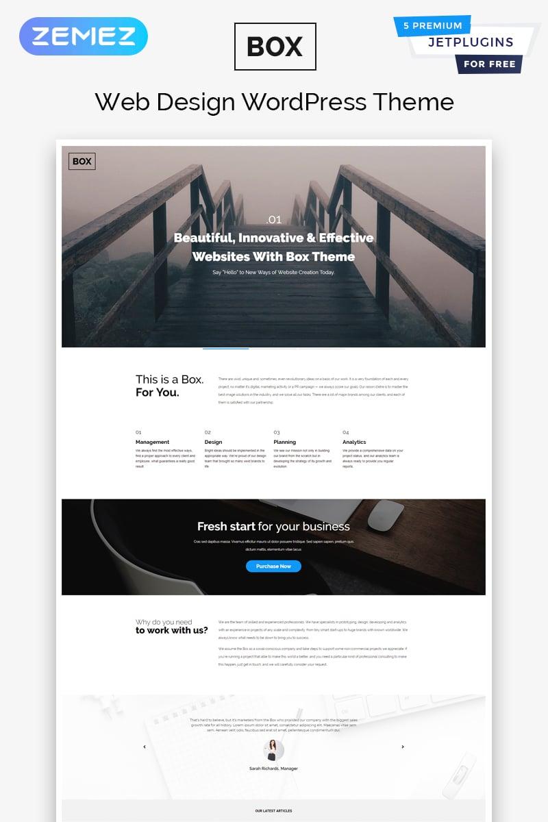 Адаптивный WordPress шаблон №58337 на тему веб-дизайн - скриншот
